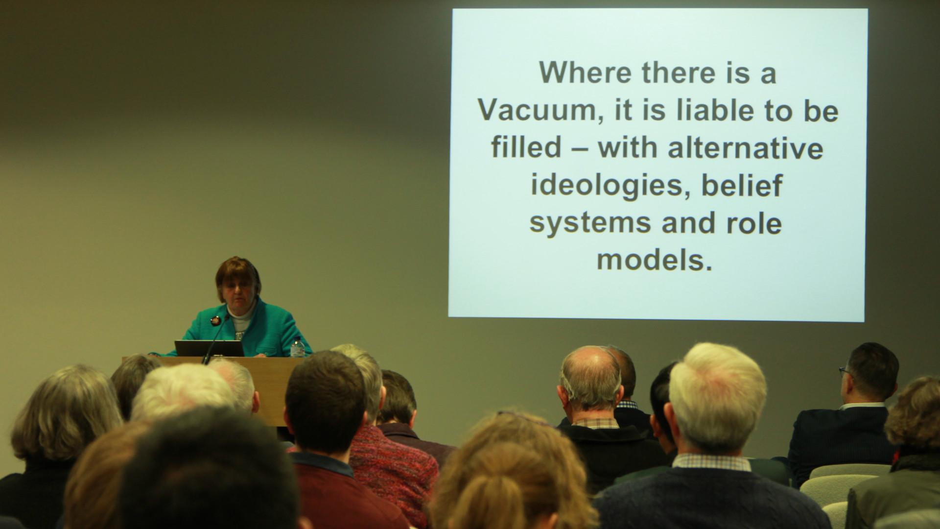 Baroness Cox presenting