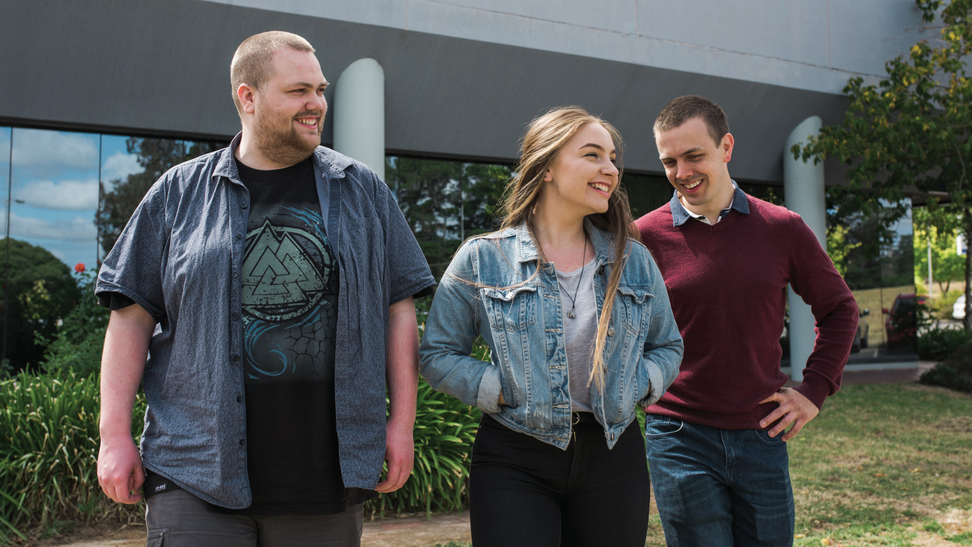 Josiah, Mairead and Chris smiling